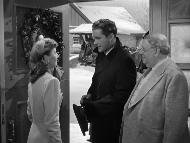 """""""Christmas in Connecticut"""" (1945).  A powerhouse cast:  Barbara Stanwyck, Dennis Morgan, """"Cuddles"""" S. Z. Sakall, Sydney Greenstreet, Reginald Gardiner & Robert Shayne!  It simply wouldn't be Christmas without this warm and cozy film!"""