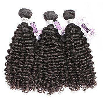Bella Hair Virgin Remy Brazilian Hair 3 Bundles Curly Hair Extensions Human Hair Weave Mixed Length… Review