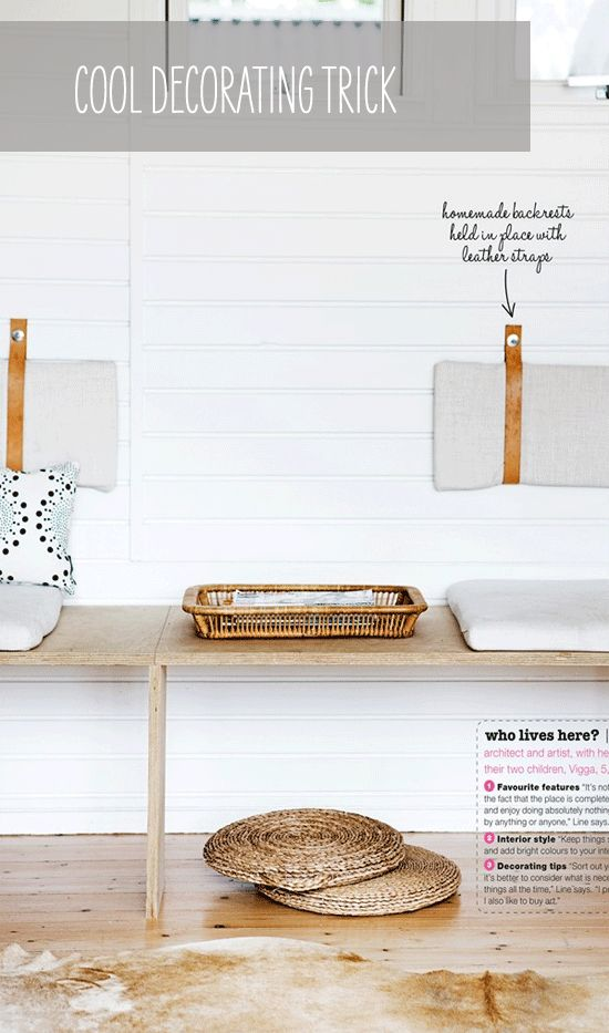 diy: back rests with leather straps