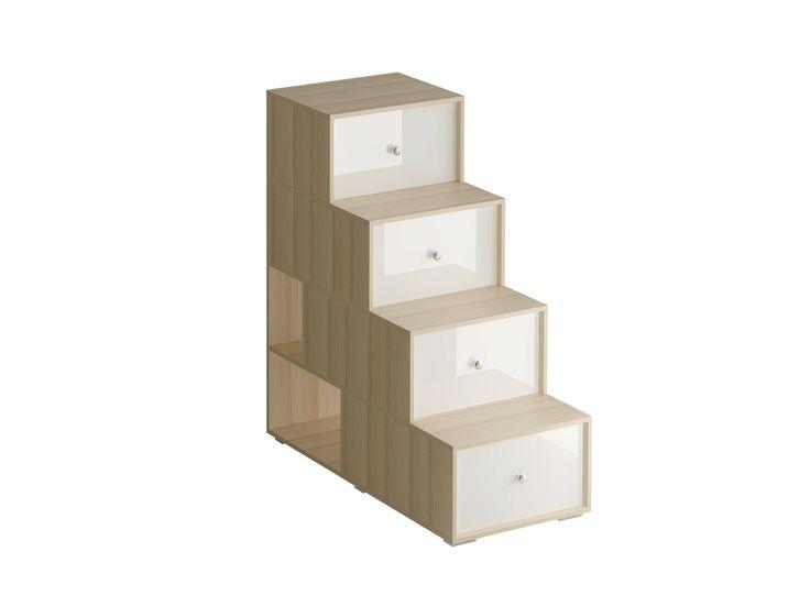 Лестница-комод состоит из четырёх ступенек. Под ступеньками имеются отделения для хранения. Сбоку лестницы есть две открытые полки. Можно устанавливать и слева и справа от кровати. #jewelry, #women, #men, #hats, #watches, #belts