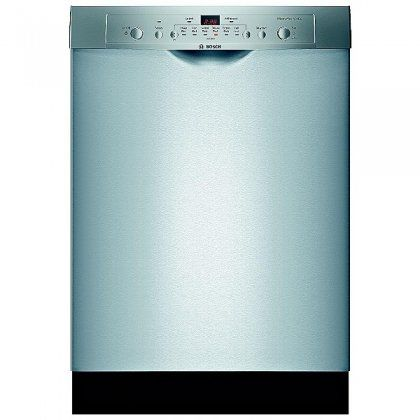 Bosch : SHE3AR75UC 24 Ascenta Series Full Console Dishwasher - Stainless Steel 14-Place Settings. 6 Wash Cycles. 2 Options. Sanitize Option. Delay Start.  #Bosch #MajorAppliances