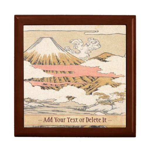 Fuji-mi Saigyo isoda koryusai mountain vintage art Gift Box