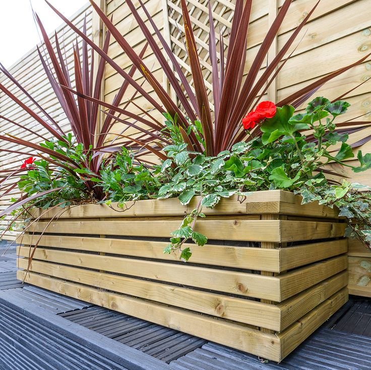 Contemporary Rectangular Planter from Grange Fencing. Complete Contemporary Garden collection to match!