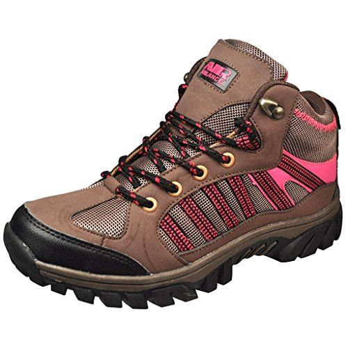 Air Balance Girls Hiking Boots - Brown Fuchsia >>> To view further for this item, visit the image link.