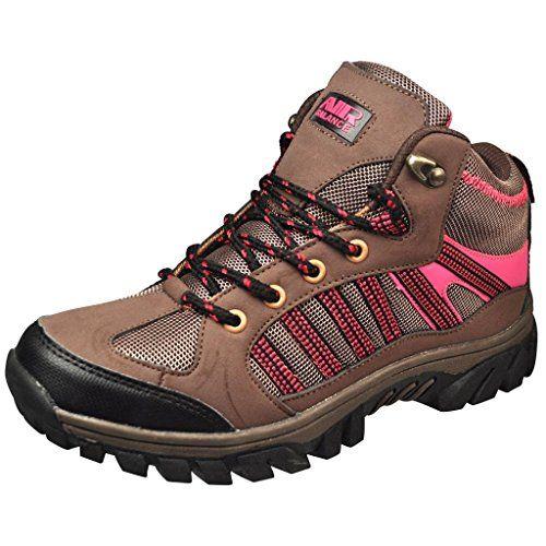 love those Air Balance Girls Hiking Boots - Brown Fuchsia