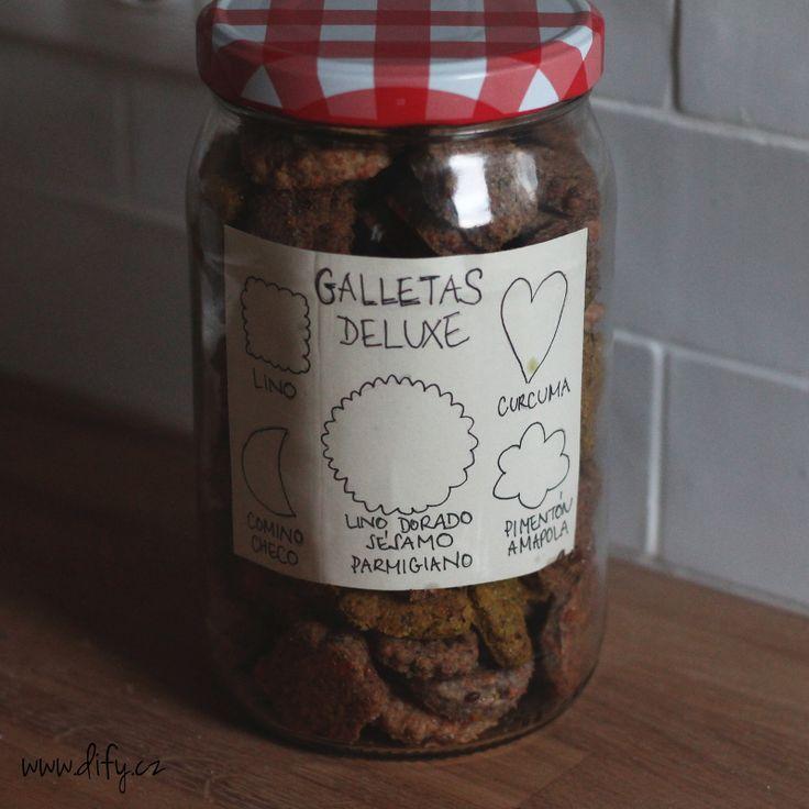 Dárkové balení domácích sušenek ze lněného semínka s pěti příchutěmi