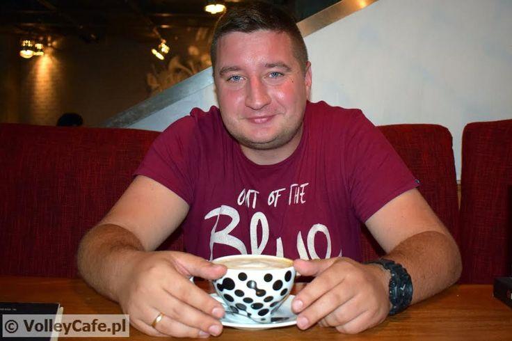 Łukasz Leksowski and #coffee! #AZSPolitechnikaWarszawska #volleyball #coffeetime
