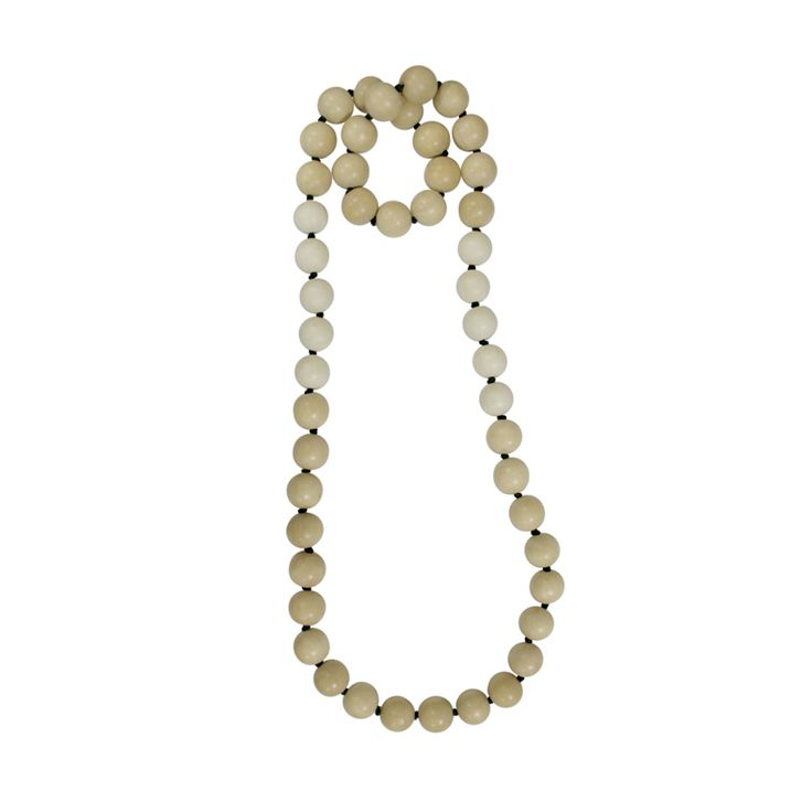 Sand Ball Necklace - Natural/White | Mooku