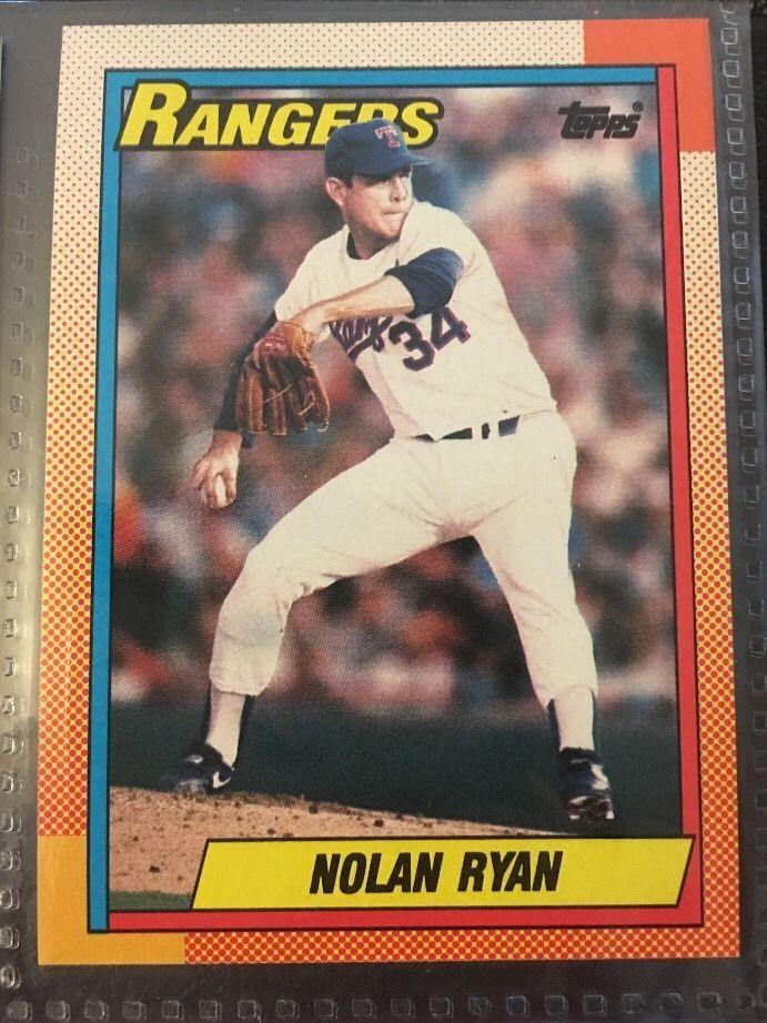 1990 Topps Nolan Ryan 1 Texas Rangers Near Mint Condition Combined S H Ebay Nolan Ryan Baseball Cards Baseball Cards For Sale