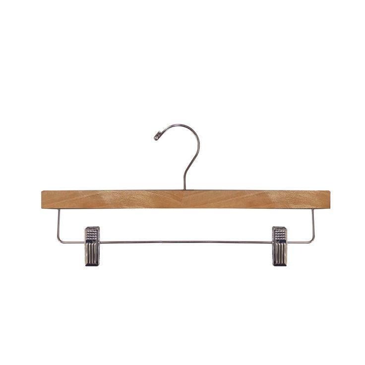 Wooden Pant Hanger, Natural Wooden Pant Hanger, Wooden Hanger (Wooden Pant Hanger,Pant Hanger (Case of 10)), Brown
