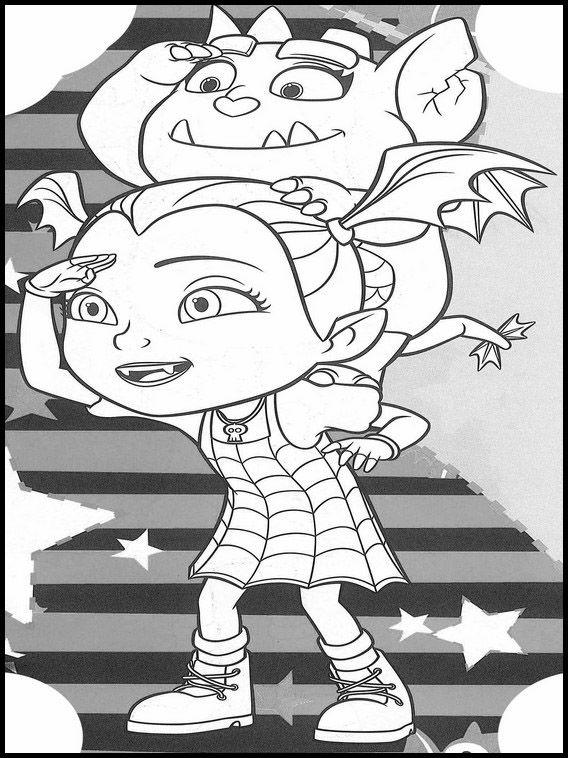 vampirina 21 ausmalbilder für kinder. malvorlagen zum
