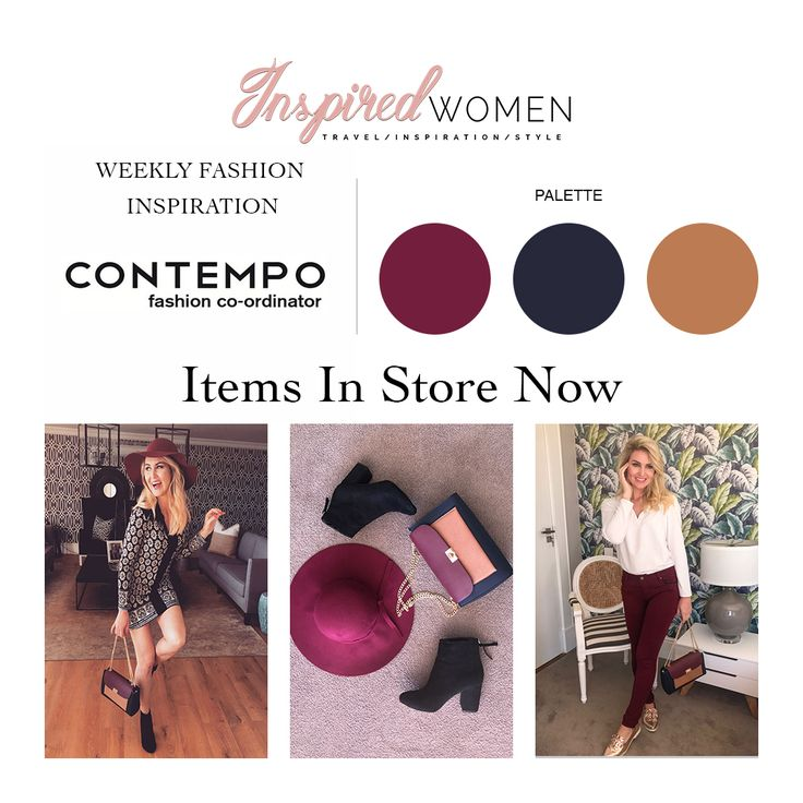 Add warmth to your Winter Closet with these items from Contempo Retail. Burgundy, Black & Tan