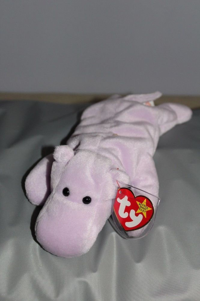 b34cb3aaf36 TY Retired Beanie Baby Happy Hippo 1994 8