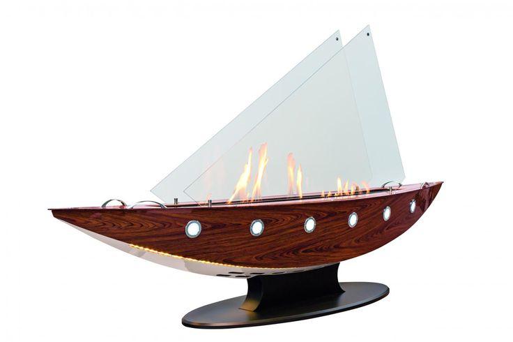Punto de fuego de bioetanol decorativo en forma de barco, ideal para interiores y exteriores y poner el accento a cualquier espacio.   http://fuegodifusion.es/