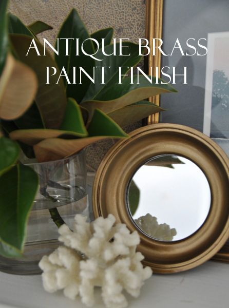 How to create an antique brass paint finish