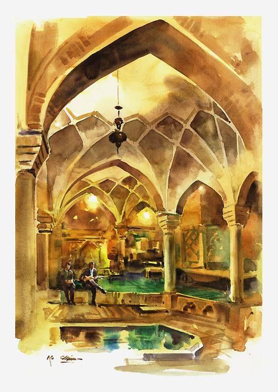 Kerman . Iran water color 35 x 57 cm