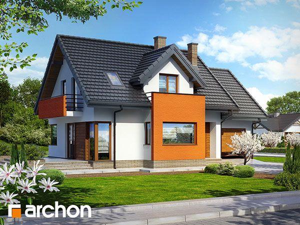 Behance :: Create ProjectDom w ananasach (N) ver. 2 Dom jednorodzinny, parterowy z poddaszem użytkowym. Do dyspozycji: garaż, 5 pokoi, kuchnia, 2 łazienki, kotłownia, garderoby, kominek. Zobacz wiecej szczegółów na: http://archon.pl/gotowe-projekty-domow/dom-w-ananasach-n-ver-2/m8d01fa16c341c