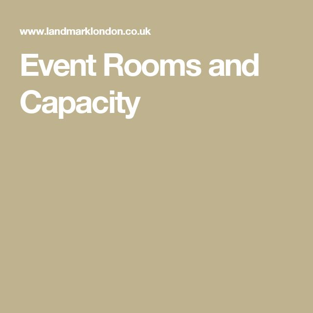 Event Rooms and Capacity