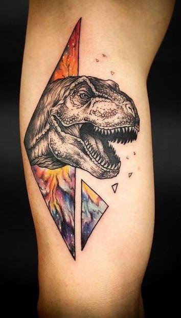 Portal Dinosaur Tattoo - http://www.tattooideas1.org/placement/forearm/portal-dinosaur-tattoo/