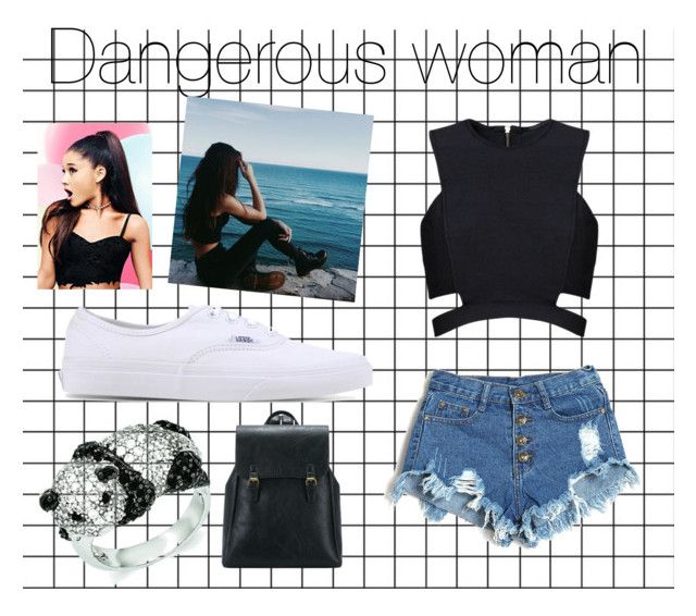 """""""Dangerous woman"""" by raque-santacruzv on Polyvore featuring moda, Lipsy, Posh Girl, Vans y Kevin Jewelers"""