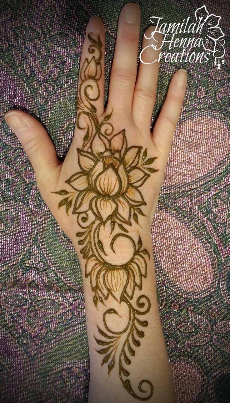 Mehndi Patterns Lotus : Lotus henna pattern imgkid the image kid has it