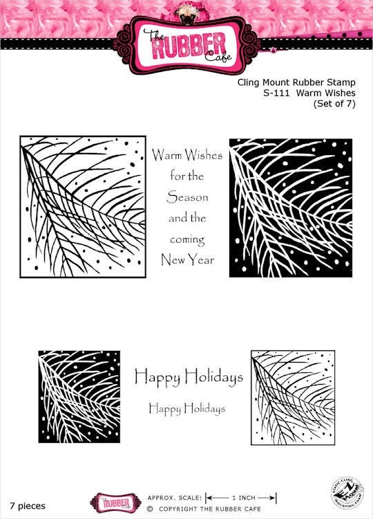 Warm Wishes Rubber Stamp Set from The Rubber Cafe