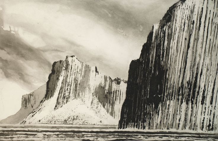Norman Ackroyd, an etching of Shiant Garbh Eilean 2011 • 49.5 x 78cm • [614]