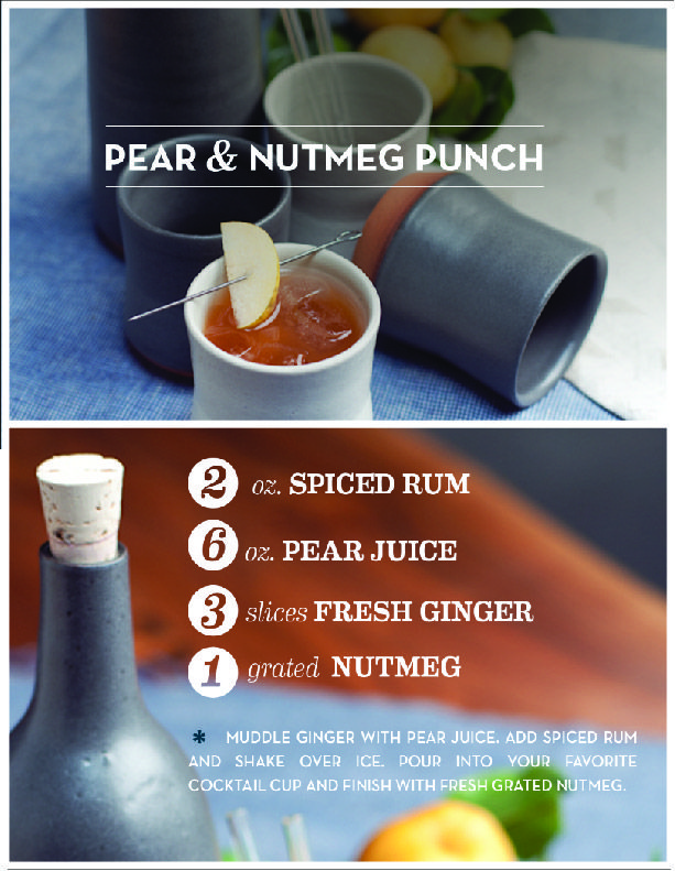 Pear & Nutmeg Punch. Perfect for a cozy fall night with friends.