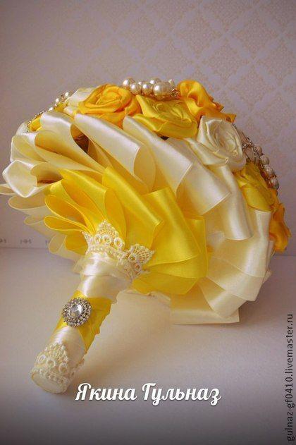 """Свадебные цветы ручной работы. Ярмарка Мастеров - ручная работа Брошь букет """"Солнечный позитив"""". Handmade."""