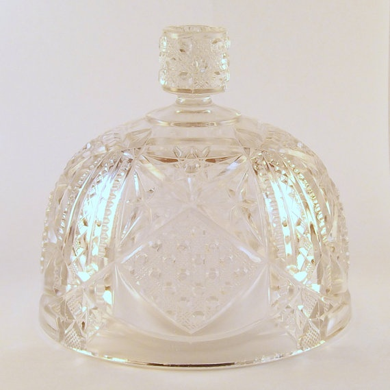 Vintage Glass Cheese Dome Or Butter Dome Cheese Domes In