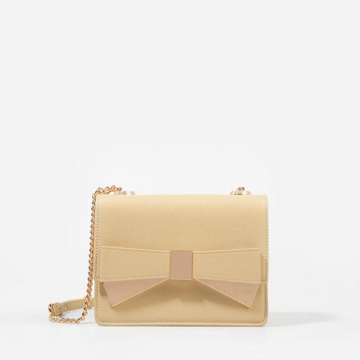 Bow Clutch - Beige - Clutch - Bags | CHARLES & KEITH