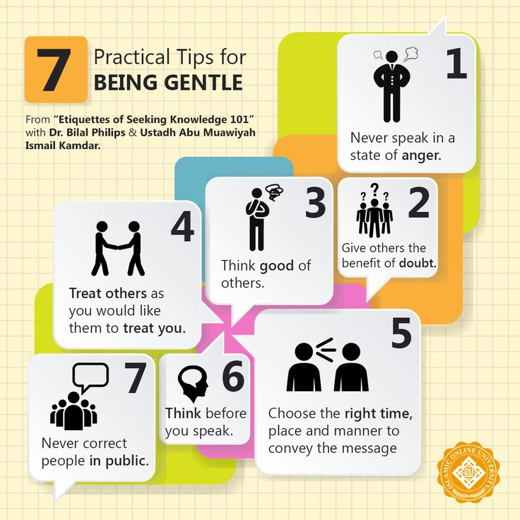 7 Practical tips for being gentle