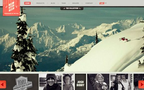 Moment Skis #webdesign #inspiration #UI #Infinite Scroll #jQuery #Typography #Flexible #Fullscreen #HTML5 #Photography #Silver #Orange 横軸