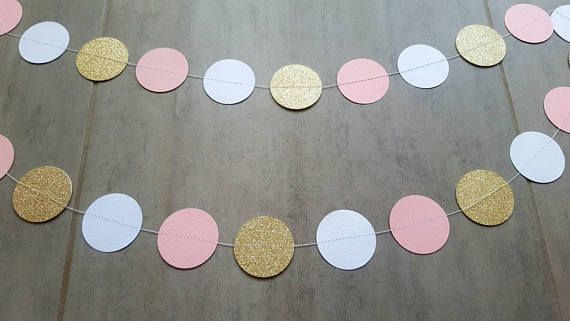 Check out this item in my Etsy shop https://www.etsy.com/au/listing/532130351/pink-and-gold-garland-paper-garland