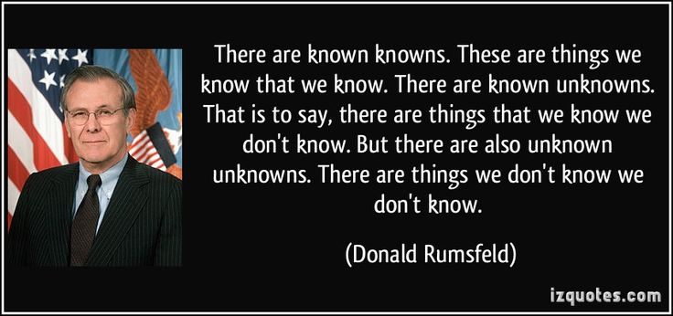 donald rumsfeld there are known knowns -