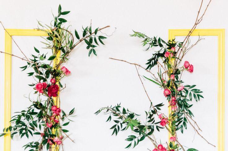 Wedding Backdrop; Flower Wall; Greenery; Frames; Cocktails & Chill Wedding Inspiration; Gina Humilde Events; Toronto Niagara Wedding Planner