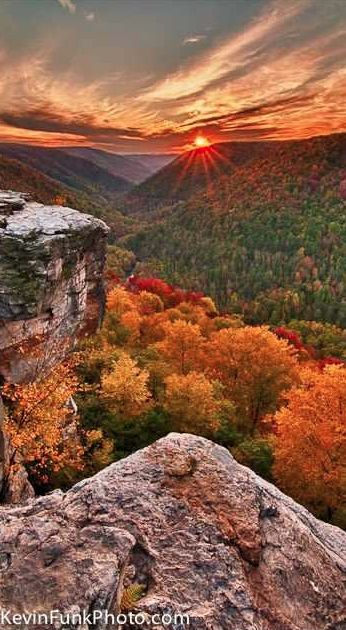 Lindy Point at Blackwater Falls State Park in the Allegheny Mountains of Tucker County, West Virginia