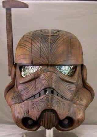 Love this! Stormtrooper helmet with a Maori (Moko) design.