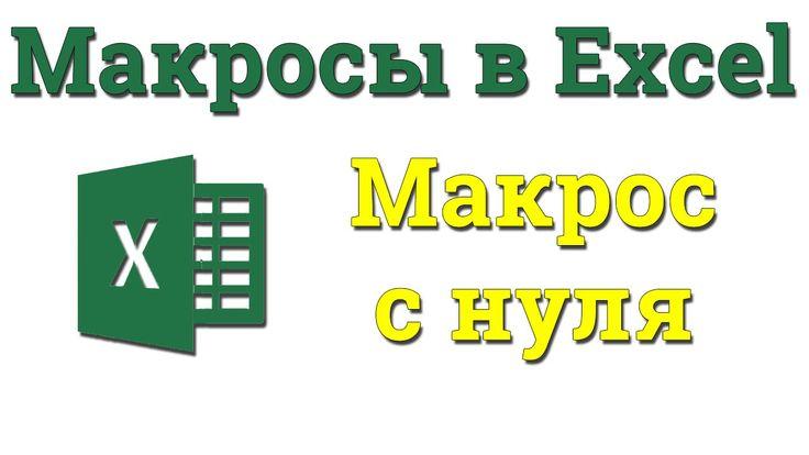 УРОК 4. Макросы. Пишем код полностью с нуля. Академия Excel