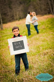 could use as a save the date pose with my son holding a sign with the date on it...