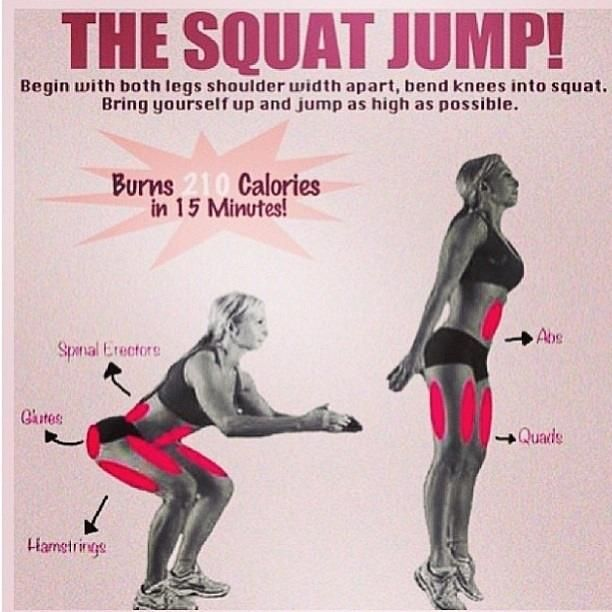 Correct way to do squat jumps. #Spring Squat Challenge, #Gina Aliotti. 100/day every day of Spring! (And beyond...)