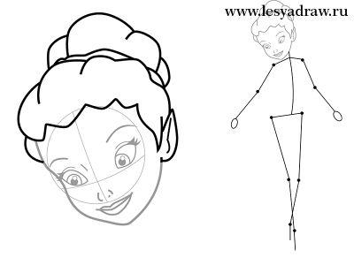 Как нарисовать фею карандашом поэтапно