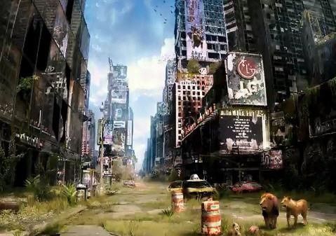 지구의 종말이후... 타임 스퀘어 광장   또다른 느낌으로 다가 옵니다..