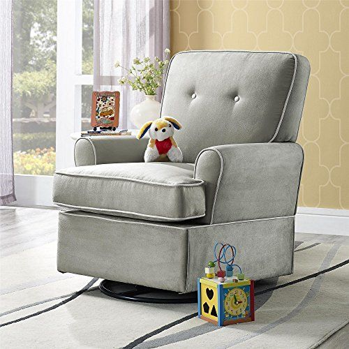 Baby Relax The Tinsley Nursery Swivel Glider Chair, Grey. For product info go to: https://all4babies.co.business/baby-relax-the-tinsley-nursery-swivel-glider-chair-grey/