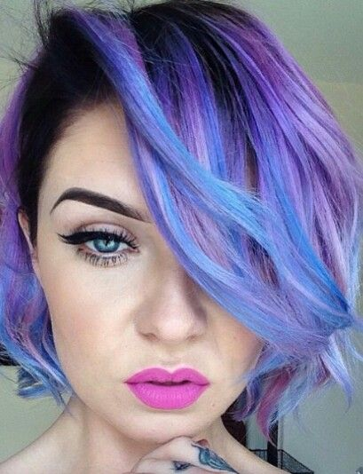 Purple blue dyed hair color @theunicorntribe #coupon code nicesup123 gets 25% off at Provestra.com Skinception.com