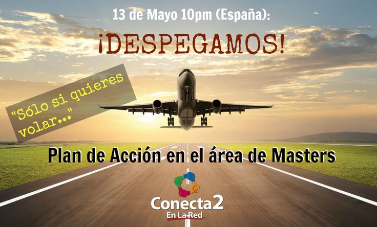 De #España a #Colombia, de #Colombia a #Australia...no importa donde estemos ahora estamos mas que nunca #Contecta2, estamos #Conecta2EnLaRed y el 13 de Mayo con el mejor mapa de vuelo para seguir volando alto #PlandeAccion de #Masters