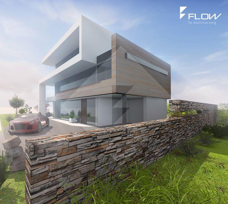 modernes efh mit staffelgeschoss und flachdach by moderne h user. Black Bedroom Furniture Sets. Home Design Ideas
