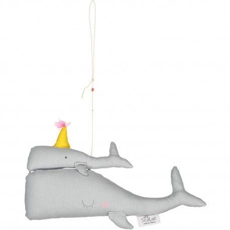 Baleines gris clair