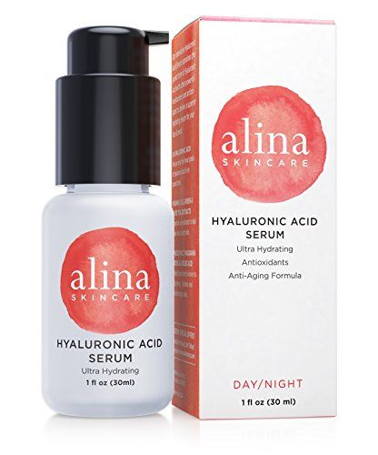 NEW. FINEST GRADE HYALURONIC ACID. Alina Skin Care Hyaluronic Acid Ultra Moisturizing Serum with macadamia seed oil, apple extracts and linoleic acid Alina Skin Care, Inc http://www.amazon.com/dp/B016XUS50C/ref=cm_sw_r_pi_dp_FrrVwb03HGDP9