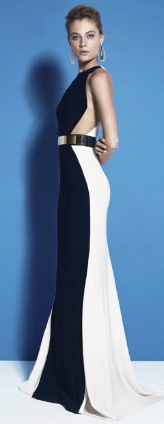 Stella McCartney color block dress. Im in love! www.kpstyleandimage.com                                                                                                                                                     More
